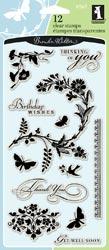Garden flower stamps