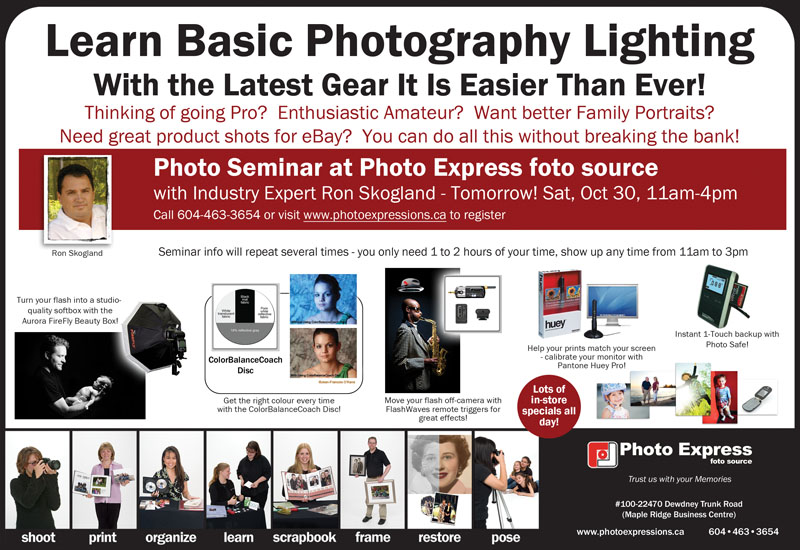 Photo Express 10-29-10 lighting seminar