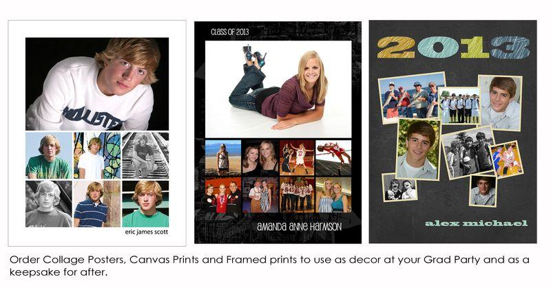 Photo Collage grad posters