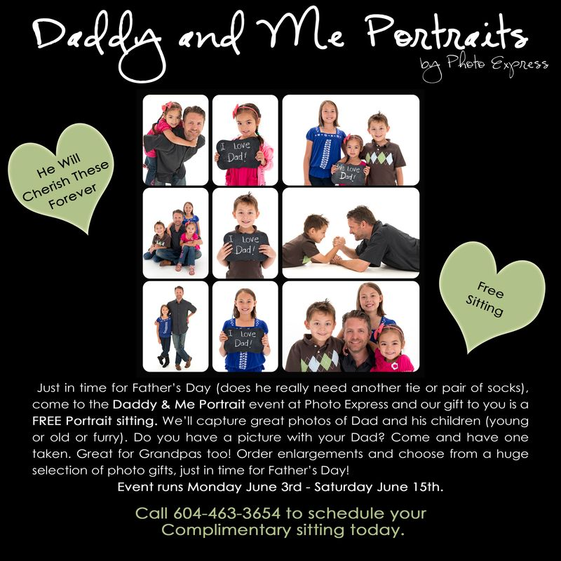 Daddy and Me Portraits Event