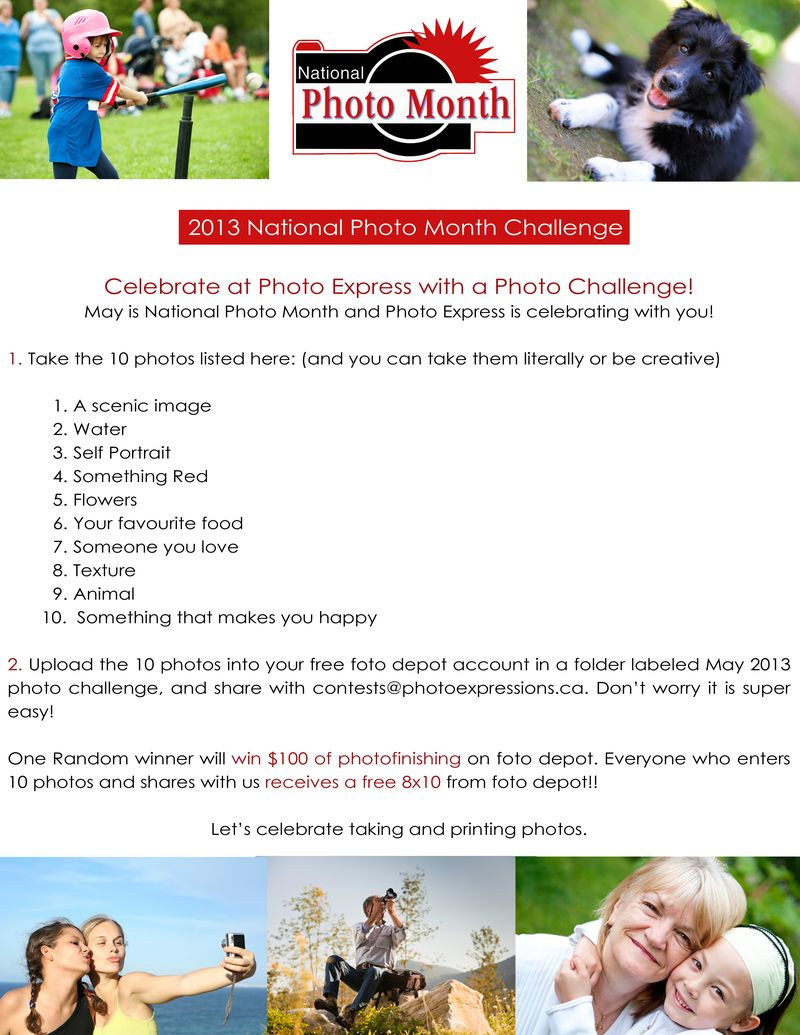 2013 National Photo Month Challenge Contest