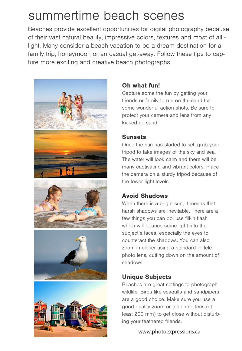 Summertime beach photo tips