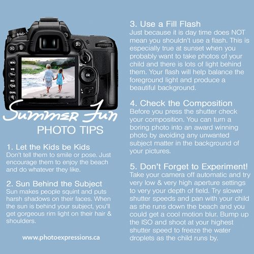 Summer Fun Photo Tips