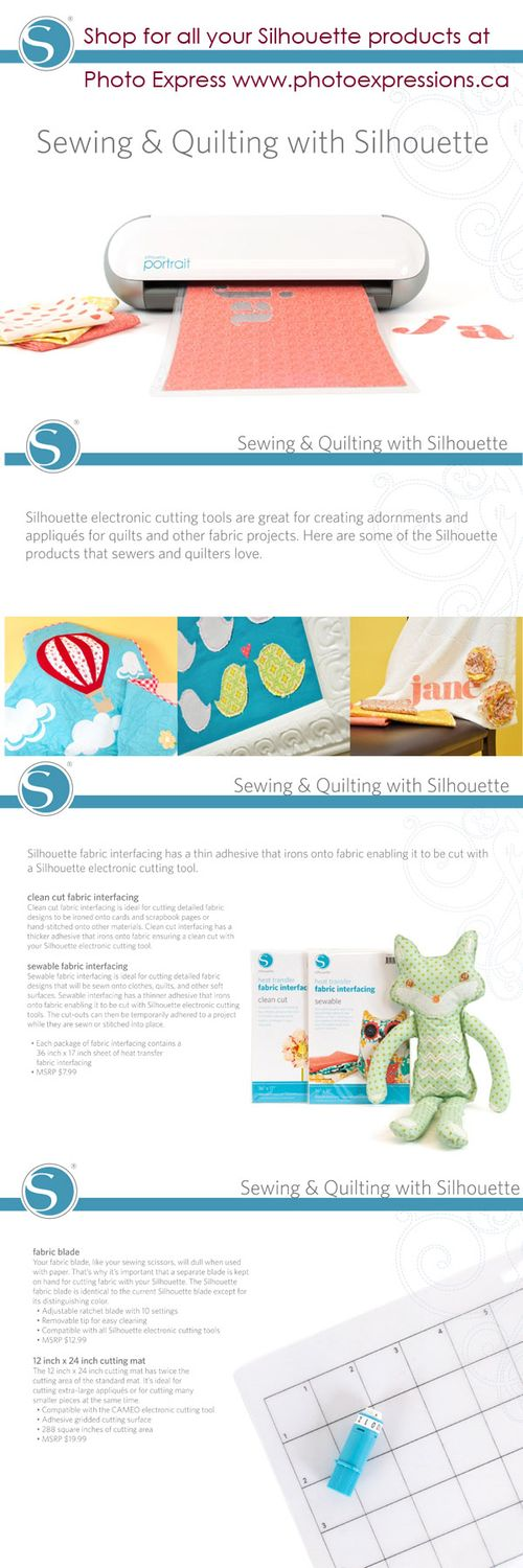 Sewing and quilting with Silhouette CAMEO