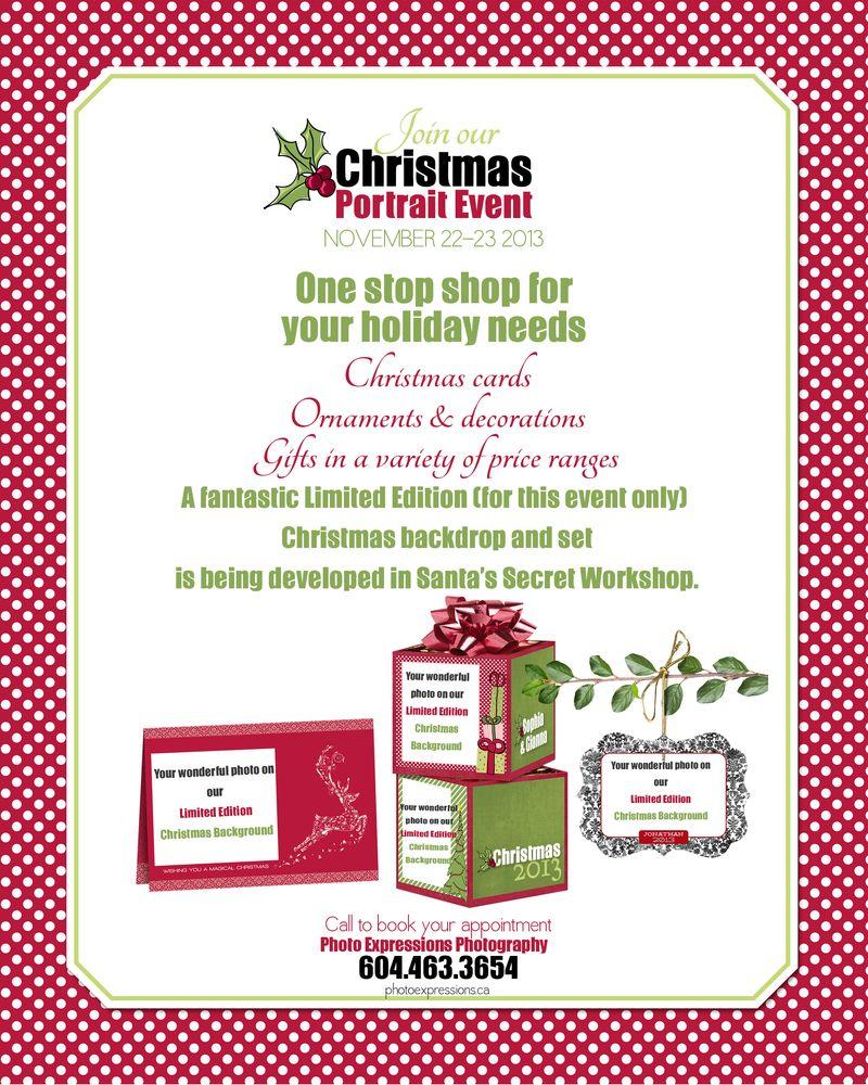 PE ChristmasPortrait Event Flyer