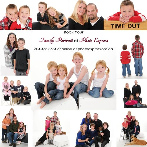 Family Portraits at Photo Express
